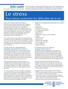 Le stress - The College of Family Physicians Canada