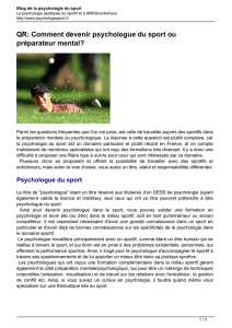 QR: Comment devenir psychologue du sport ou préparateur mental?