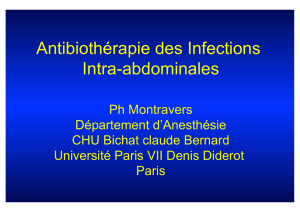 Antibiothérapie des infections intra-abdominales - Infectio