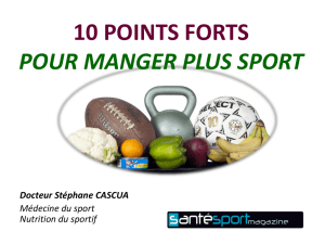10 points forts pour manger plus sport