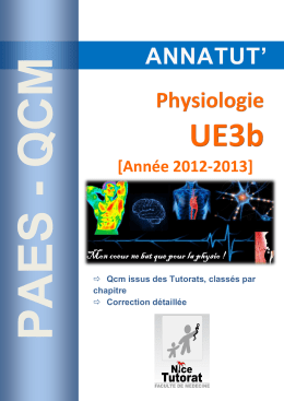 Annatut` UE3b-Physiologie 2012-2013