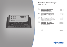 Solar Dual Battery Charger SDC 10 / 20