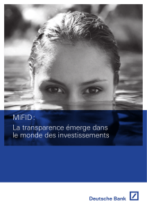 Brochure MiFID - Deutsche Bank