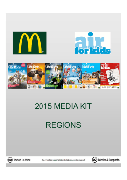 2015 media kit regions - Les Tarifs de la Presse