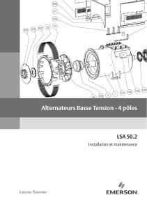 Alternateurs Basse Tension - 4 pôles