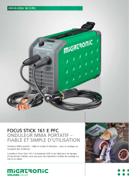 focus stick 161 e pfc onduleur mma portatif – fiable et simple d