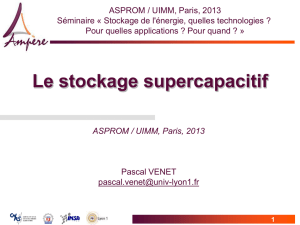 Le stockage supercapacitif