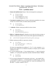 TD 6 - Lambda calcul - Université Paris Diderot