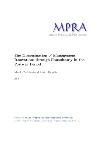 The Dissemination of Management Innovations through