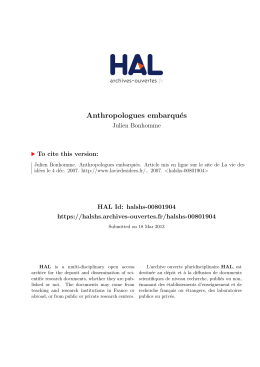 Anthropologues embarqués - Hal-SHS