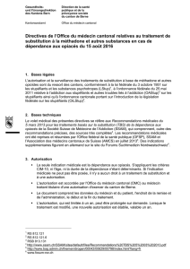Directives de l`Office du médecin cantonal relatives au traitement de