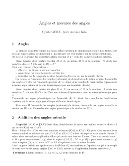 Angles et mesures des angles