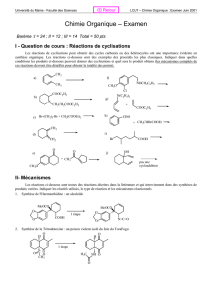 Chimie Organique – Examen