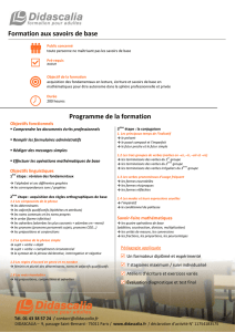 programme stage savoirs de base - DIDASCALIA