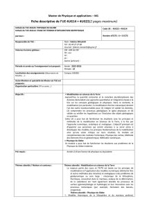 Fiche descriptive de l`UE 4UG14 + 4UG22(2 pages maximum)