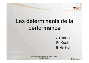 Les déterminants de la performance