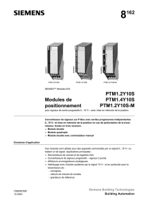 8162 Modules de positionnement PTM1.2Y10S PTM1.4Y10S PTM1