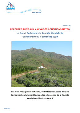 REPORTEE SUITE AUX MAUVAISES CONDITIONS