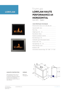 Foyers gaz LORFLAM HAUTE PERFORMANCE 64 HORIZONTAL