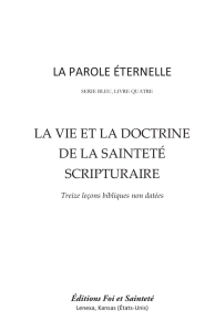 Doctrine de la sainteté scripturaire