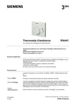 3564 Thermostat d`ambiance RAA41