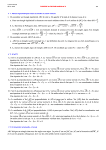 1. On considère un triangle équilatéral ABC de côté a. On appelle H