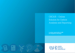 OSCAR – Online Solution for Carbon Analysis and Reporting