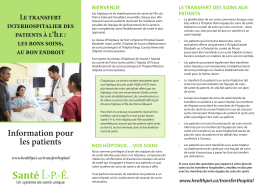 Information pour les patients
