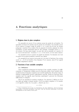 4. Fonctions analytiques