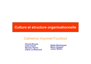 Culture et structure organisationnelle Catherine Voynnet Fourboul