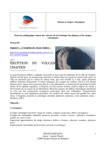 ÉRUPTION DU VOLCAN CHAITEN
