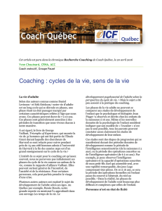 Coaching : cycles de la vie, sens de la vie