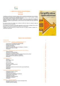 l`amplificateur operationnel resume table des matieres