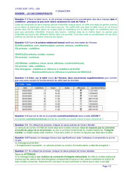 LYCEE ICOF / STG – GSI F.GRANOTIER Page 1/2 DOSSIER : LE