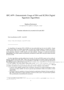 RFC 6979 : Deterministic Usage of DSA and ECDSA Digital