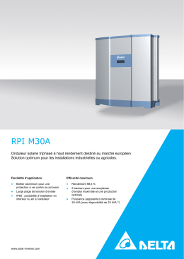 RPI M30A - Delta Energy Systems