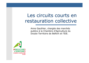 Les circuits courts en restauration collective