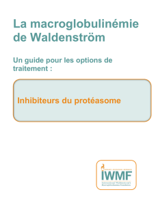 Inhibiteurs du protéasome - International Waldenstrom`s