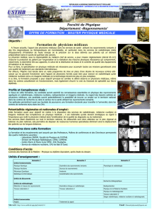 Formation de physiciens médicaux