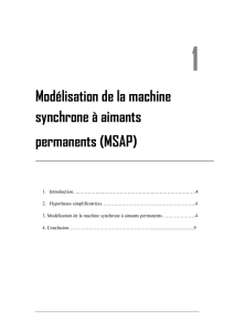 Modélisation de la machine synchrone à aimants permanents (MSAP)