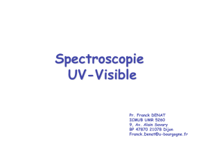 Spectroscopie UV-Visible