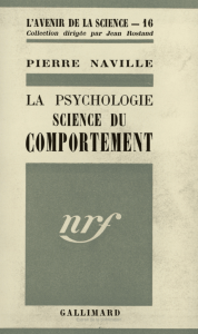 La Psychologie du comportement
