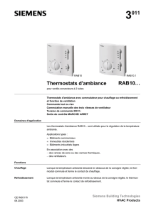 3011 Thermostats d`ambiance RAB10…
