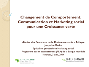 Changement de Comportement, Communication et Marketing social