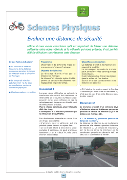 Distance de securite ( PDF - 113.3 ko)