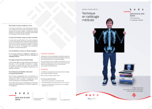 "Brochure ""Bachelor Technique en radiologie médicale"""