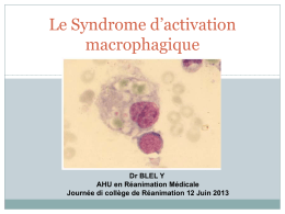 Syndrome d`activation macrophagique