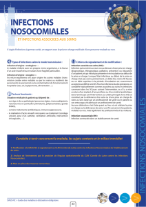 Les infections nosocomiales - DASS-NC