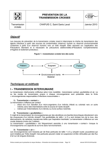 TRANSMISSION INTERHUMAINE - CClin Sud-Est
