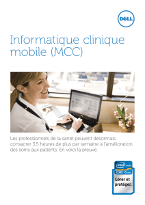 Informatique clinique mobile (MCC)